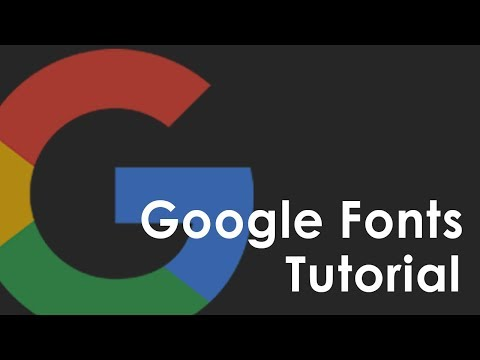 Google Fonts Quick Tutorial with HTML and CSS