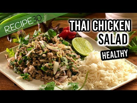 Chicken or Pork Thai larb healthy salad