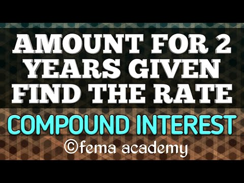 Compound Interest Problems | Aptitude Shortcuts and Tricks | Amount for 2 years given,find rate