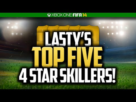 LA5TY'S TOP 5 4 STAR SKILLERS! FIFA 14 ULTIMATE TEAM!