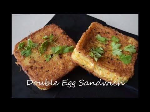 Double egg sandwich | Boiled egg stuffed sandwich dipped in eggs | Breakfast recipes | Yummy