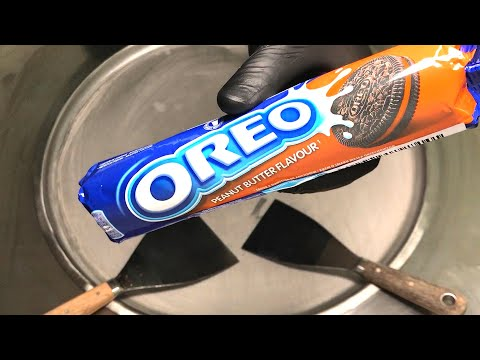 Oreo Ice Cream Rolls with Peanut Butter | how to make Ice Cream with Peanut Butter Oreo - Recipe