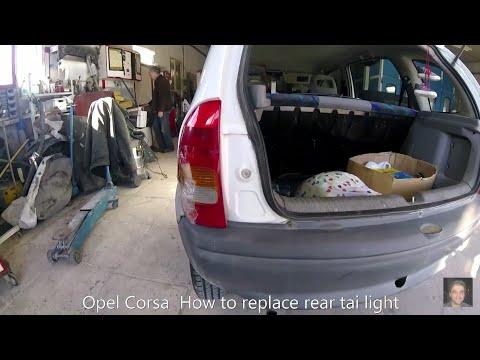 Opel Corsa   B  How to replace rear tai light