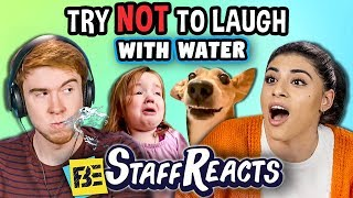 Try to Watch This Without Laughing or Grinning WITH WATER! #8 (ft. FBE STAFF)