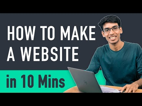 How to Make a Website in 10 mins - Simple & Easy