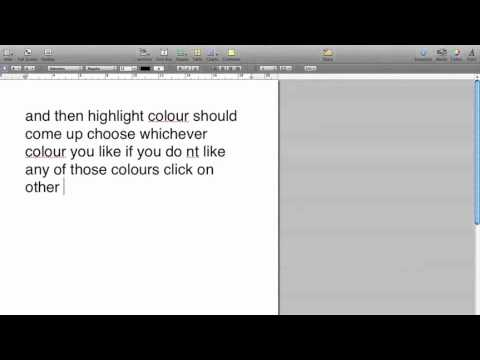 how to change highlight colour for mac