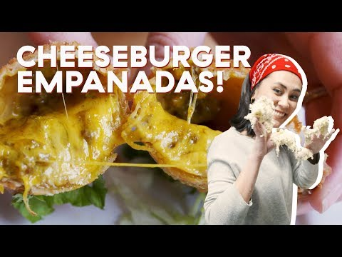 Best Empanadas In NYC FILLED With Cheeseburger | Delish Does