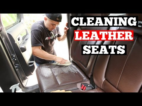 2 Methods On HOW To CLEAN LEATHER Car Seats - Auto Detailing Training Series (Leather Car Cleaning)
