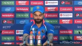 Funny english by Pakistan media vs Virat kohli | india vs pakistan| interview gone wrong