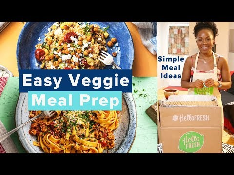 Vegetarian Meal Prep ON A BUDGET | HelloFresh Prep, Demo & HONEST Review