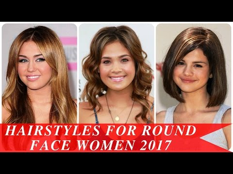 Hairstyles for round face women 2017