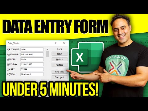 Create a Data Form in Excel WITHOUT VBA!