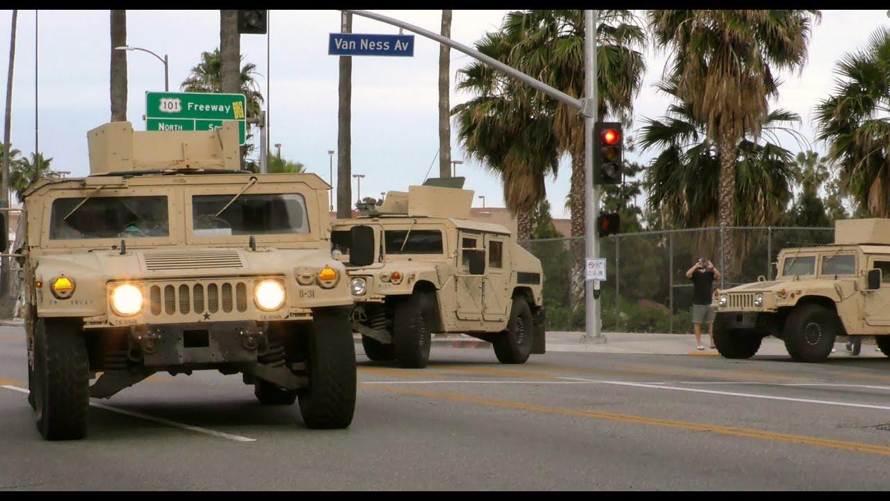 4K - National Guard Arrives in Hollywood to Curb Mayhem