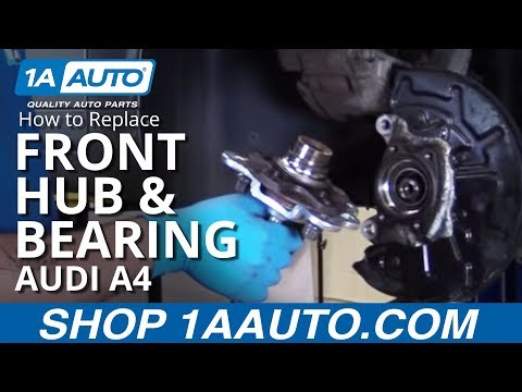 How to Install Replace Front Wheel Hub Bearing 2002-08 Audi A4
