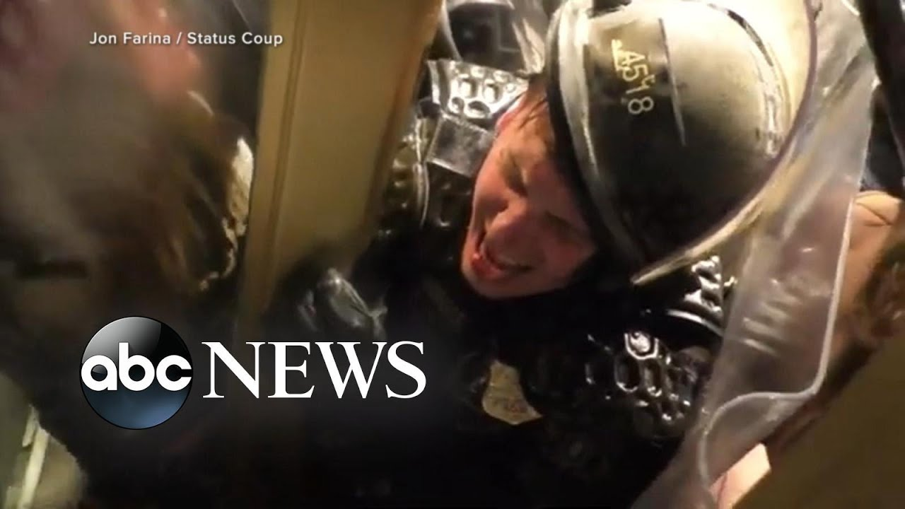 Video shows mobs attacking Capitol police as investigators ramp up search for rioters l GMA