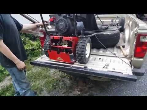TURNING A SNOWBLOWER INTO A GO-KART