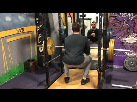 Zercher Squat - 110kg - Building Super Body