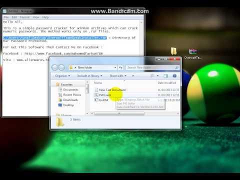 Rar Numeric Password Cracker By Farhan ( AlienWares MoZ)