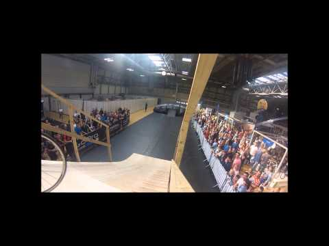worlds first ever front flip on a road bike by Ricky Crompton