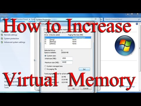 How to Increase Virtual Memory in Windows 7,8 - Very easy way