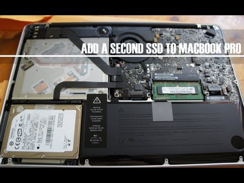 How To Add Second A SSD to Replace Optical Drive MacBook Pro 2012