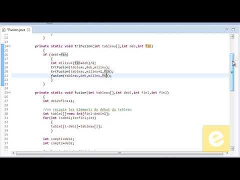 Java : Tri de Fusion
