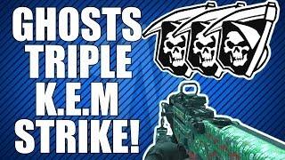 COD Ghosts: TRIPLE KEM STRIKE GAMEPLAY! (3 KEM Strikes, 1 Match)