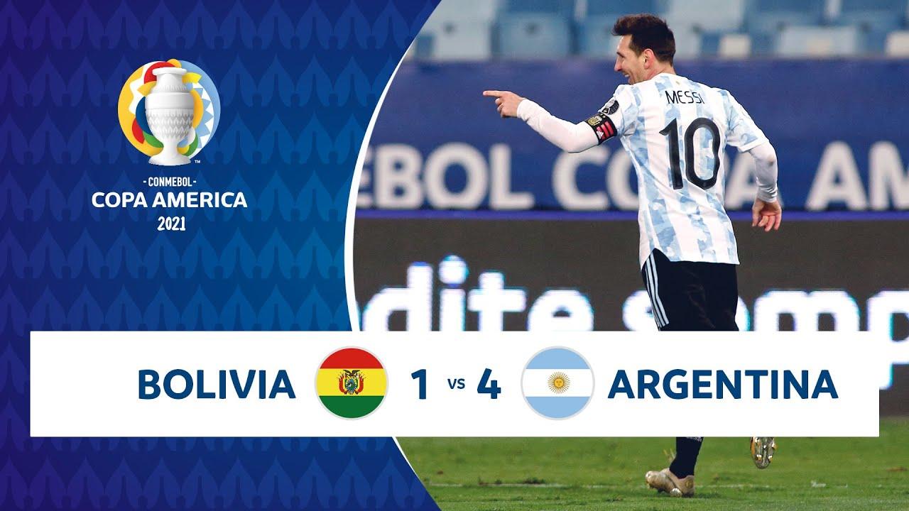 HIGHLIGHTS BOLIVIA 1 - 4 ARGENTINA | COPA AMÉRICA 2021 | 28-06-21