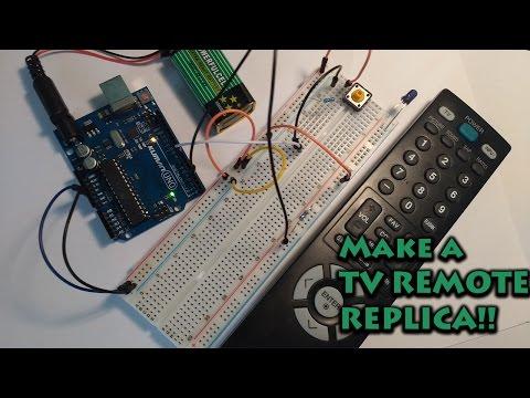 How to make a tv remote replica with arduino