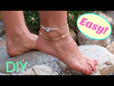 Cute diy anklet | easy diy jewelry | DIY projects you need to try!