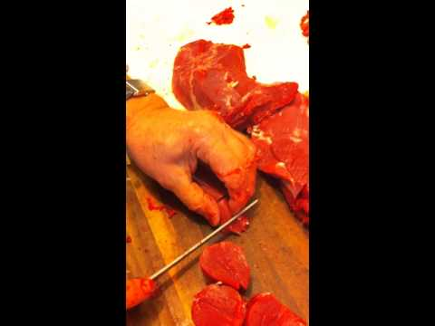 How to cut up a deer 10- eye of the round
