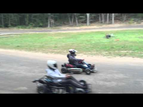 Back yard Go Kart Track Go-Kart Racing Homemade track