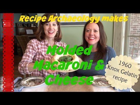 Molded Macaroni & Cheese - 1960 Knox Gelatine recipe
