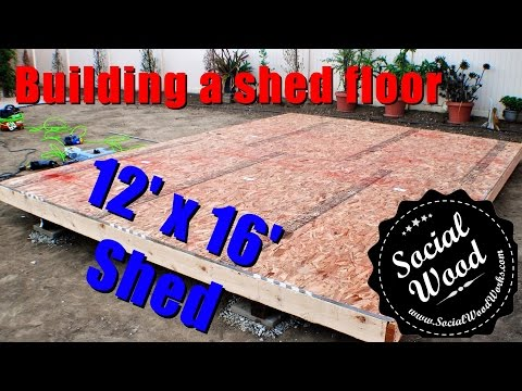 How to Build a Shed - How to frame a shed Floor