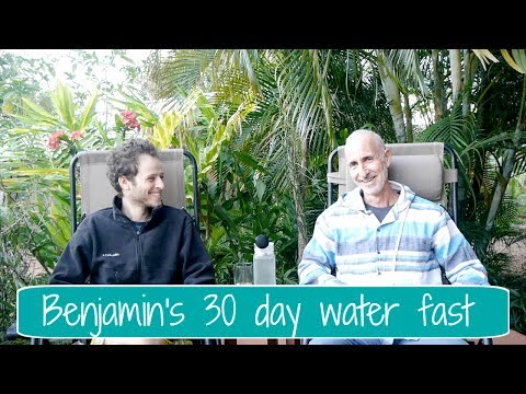 Benjamin's 30 day water fast to heal knee injury and more..