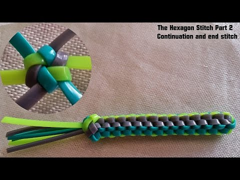 The Hexagon Stitch Lanyard Part 2- Continuing with 3 more