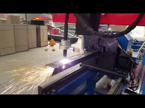 square pipe plasma cutting machine/ steel beam cnc cutting