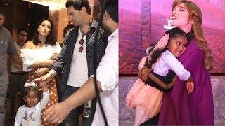 Sunny Leone & Husband Daniel Weber CUTE Moment With Daughter Nisha Kaur Weber At Frozen 2 Movie