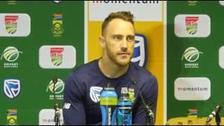 Faf du Plessis Pre Match Press Conference 29-09-2016