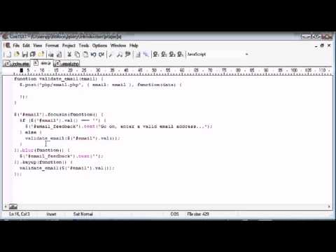 jQuery Tutorial   110   Email validation   YouTube