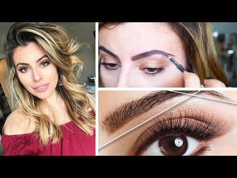 HOW TO DO YOUR OWN EYEBROWS AT HOME |  THREAD + WAX