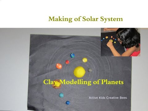 Clay Modelling Solar System | How to make Planets using clay