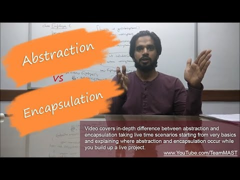 Abstraction and Encapsulation with real time example - OOPS interview question (Hindi) | Team MAST