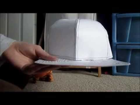 How to make a flat brimmed hat out of paper!