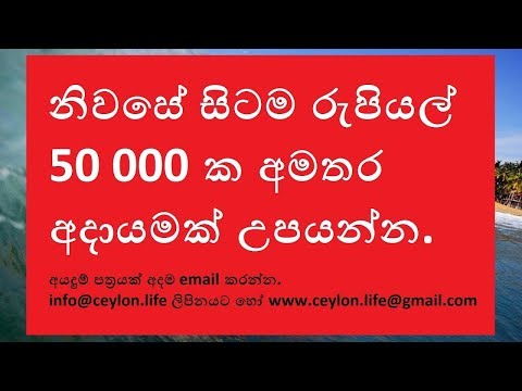 Best Part Time Job in Sri Lanka earn 50 000 rupees per month