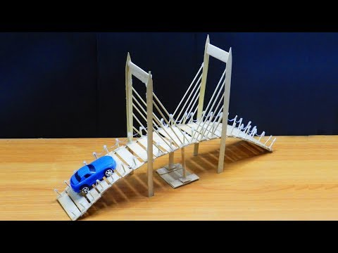 Popsicle Stick Bridge & Miniature Tree House | Easy Craft Ideas