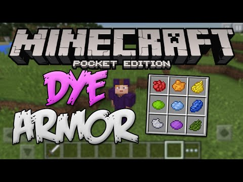 DYE ARMOR IN MCPE! - Minecraft Pocket Edition 0.14.0 Update (Colored Leather Armour in Minecraft PE)