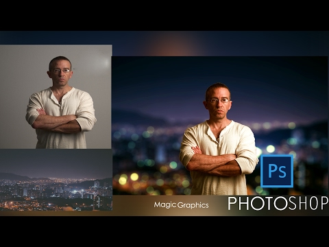 Photoshop Tutorial:Change Background Mixing colour grading Gradient map