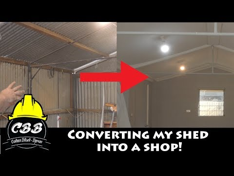 Converting my Shed into a Shop!
