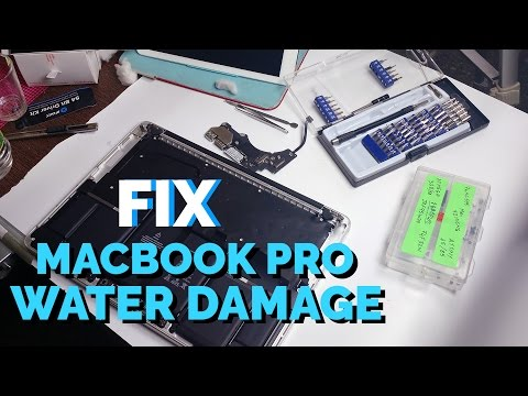 Fix a Macbook Pro 2015 Retina after Water Damage #Howto